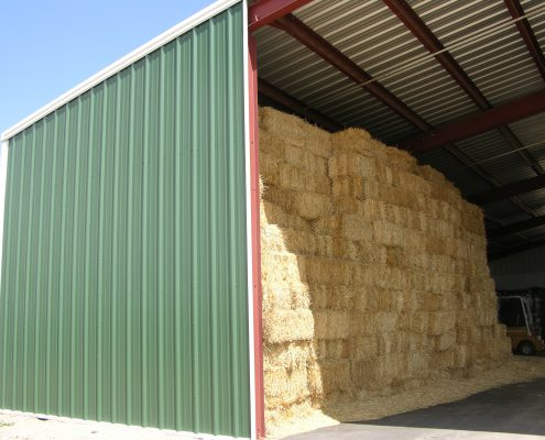 Steel Hay Shed