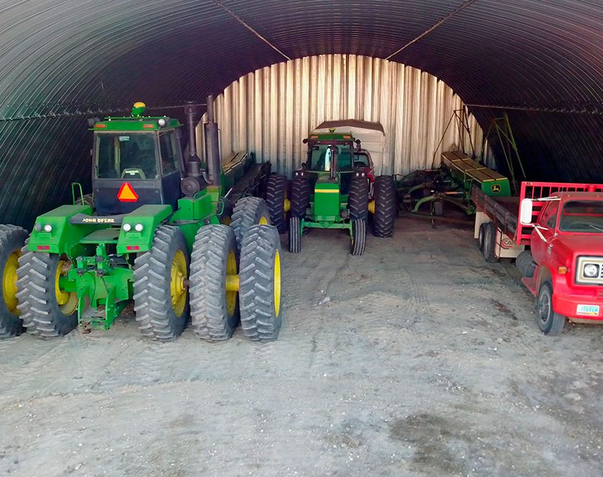Steel Arch Storage Shed