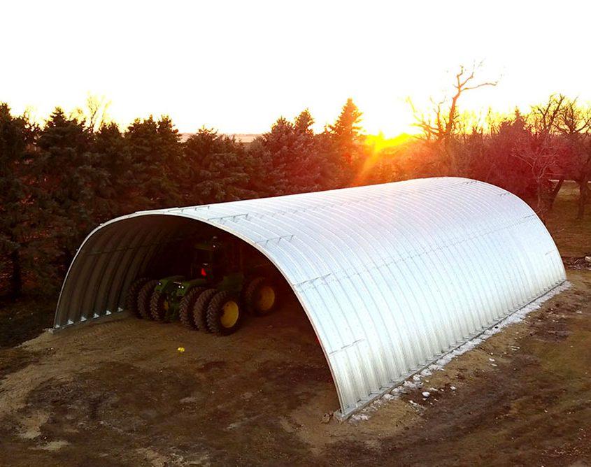 Metal Arch Storage Building