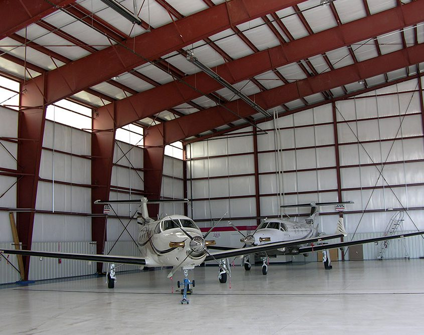 Metal Aircraft Building