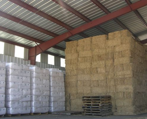 Steel Hay Storage Building