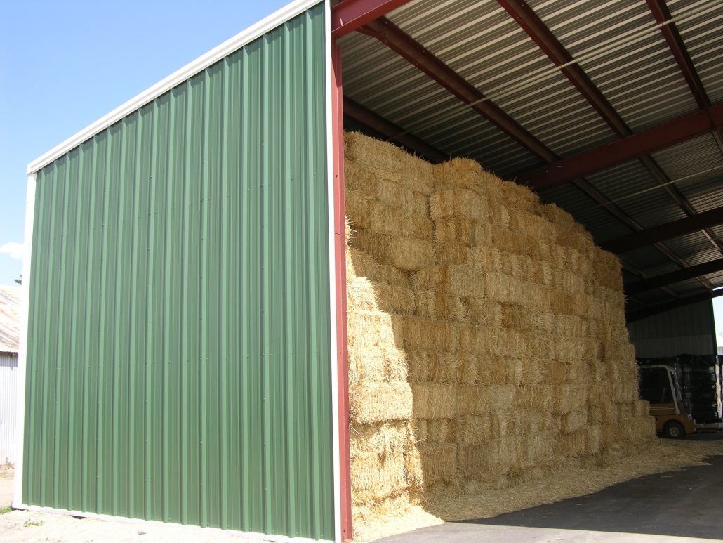 Hay Storage Shelters : Agricultural buildings steel barns sheds arenas