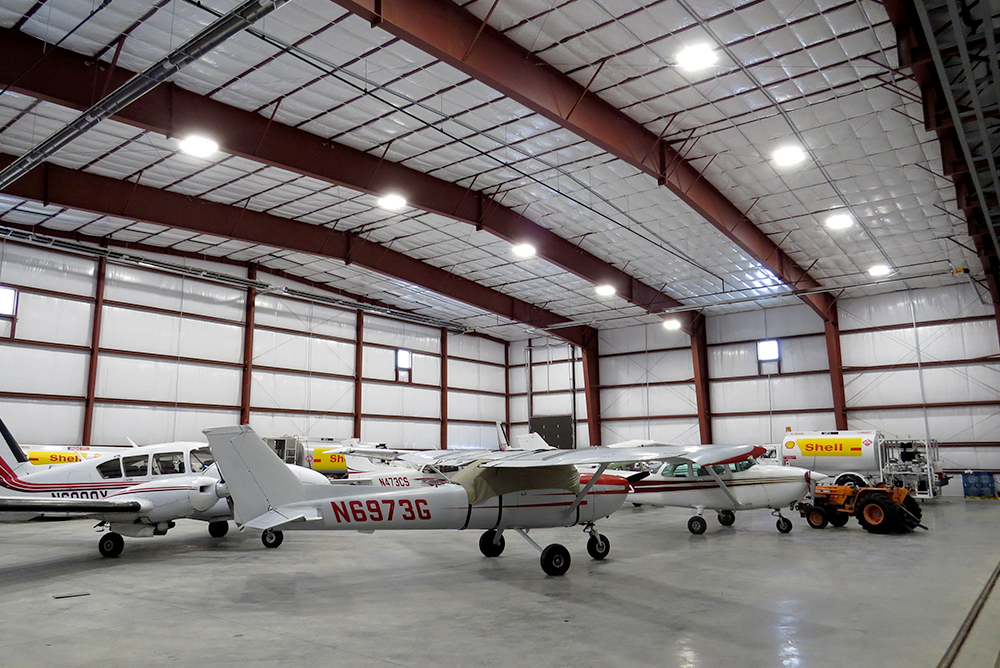 Steel Aircraft Building