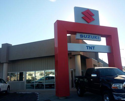 Metal Car Dealership Building