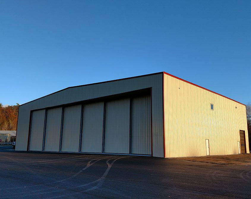 Hangar with Aircraft Door