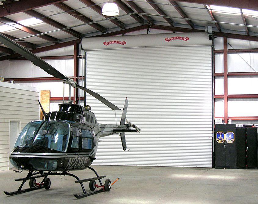 Steel Helicopter Hangar