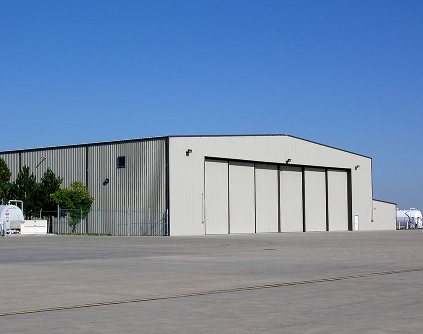 Steel Airplane Hangar