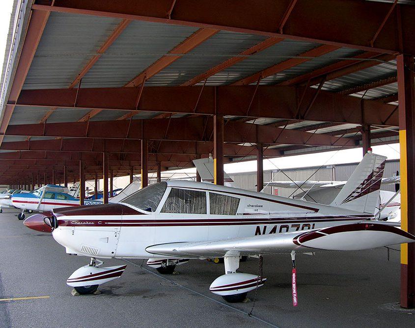 Metal Airplane Shade Hangar