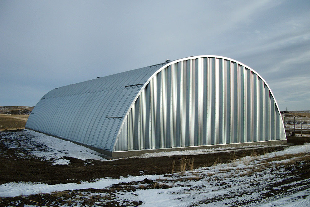 Metal arch buildings quonset huts half round buildings for Half round buildings