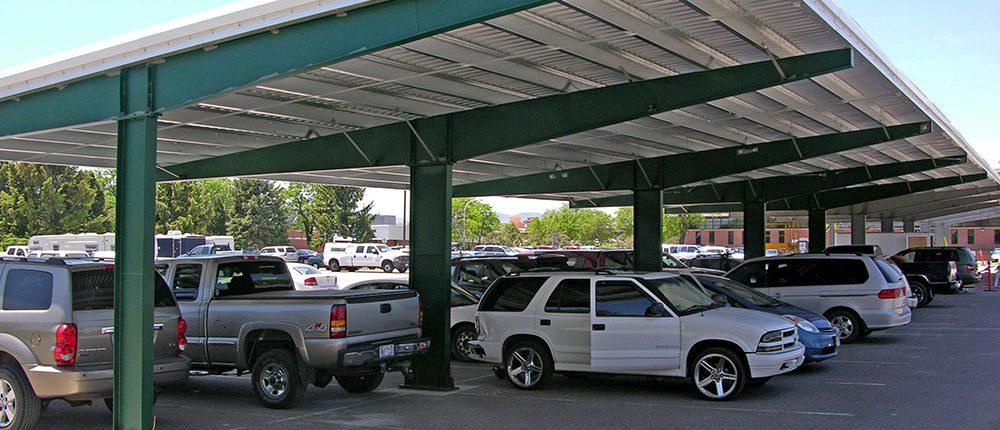 Solar Panel Adorned Carports At The Denver Federal Center