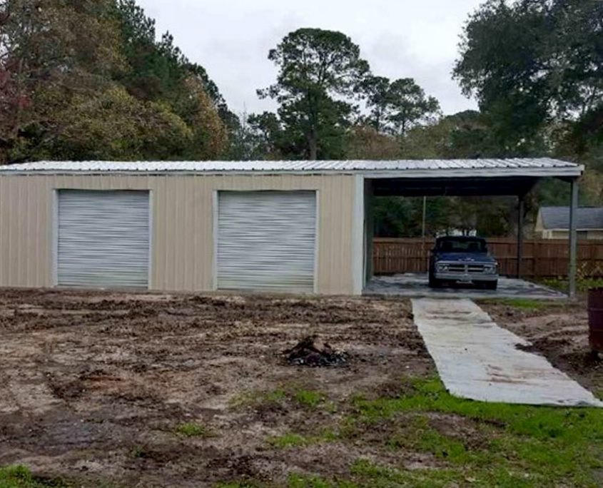 Prefabricated Steel Garage Building Kit In South Carolina