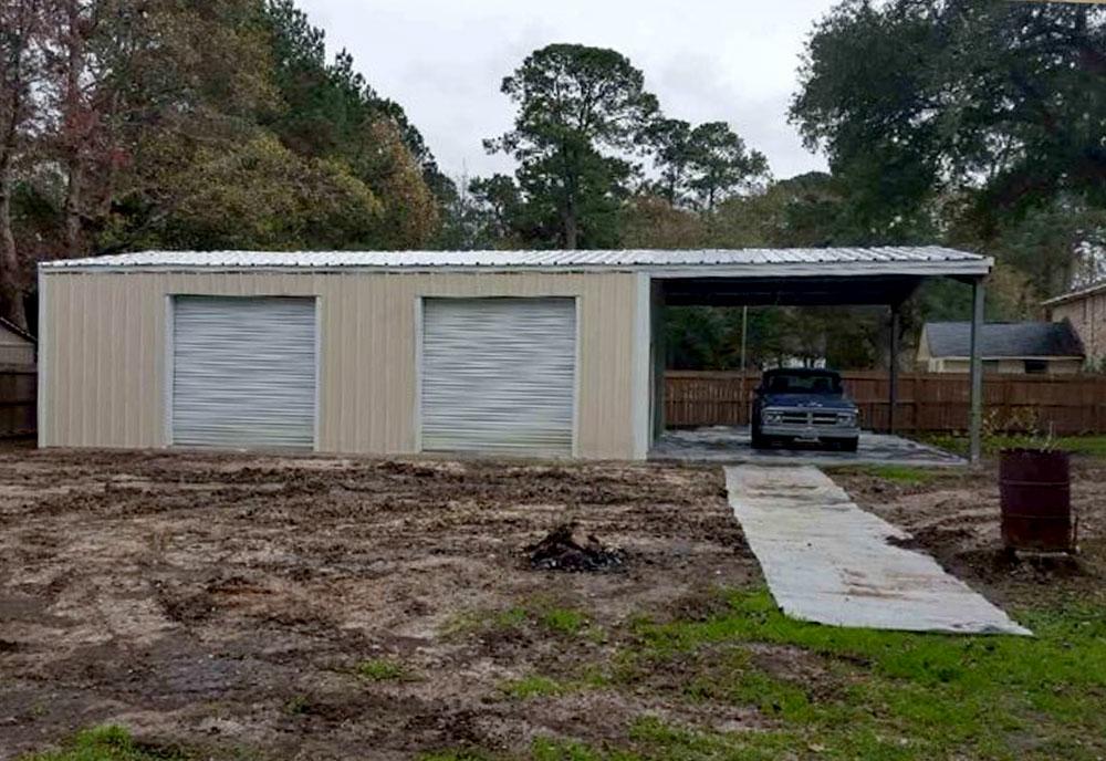 Prefabricated Steel Garage Building Kit In South Carolina