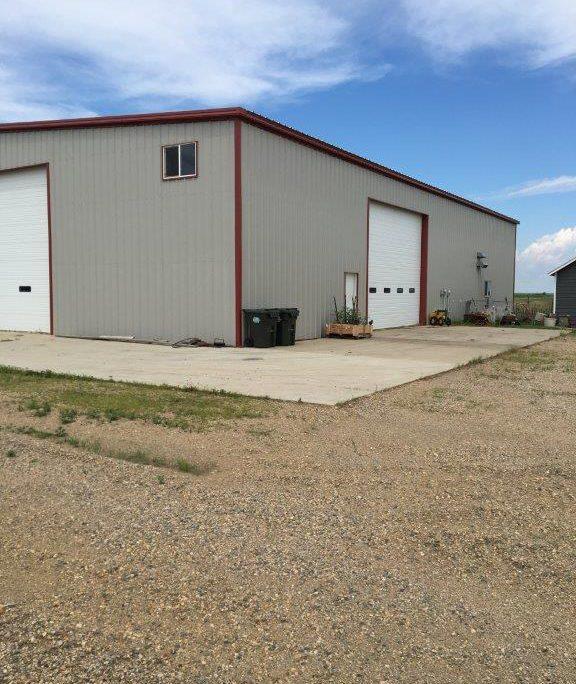 Steel Farm Building in North Dakota