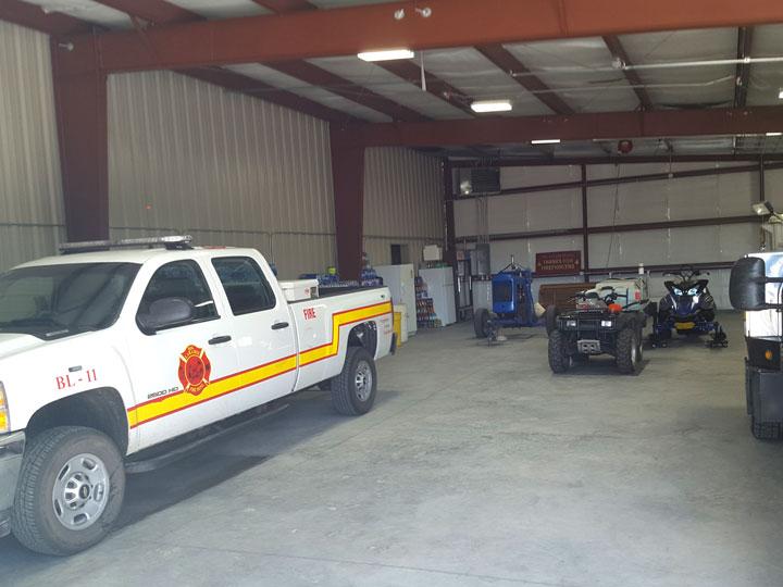 Metal Fire Station Garage