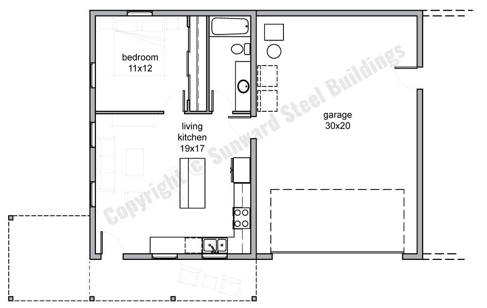 1200 sqft Metal Home