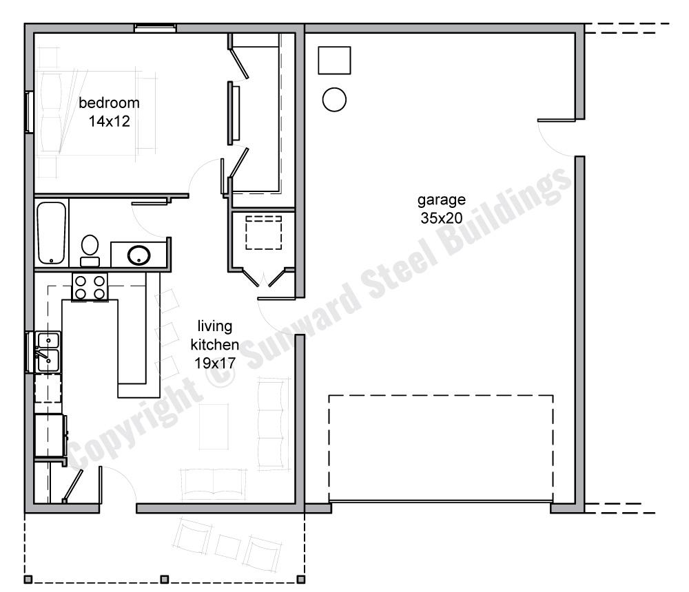 1400 sqft Metal Home