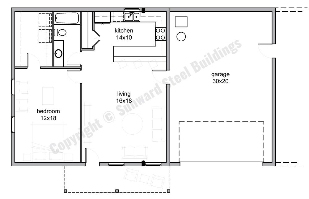 1500 sqft Metal Home