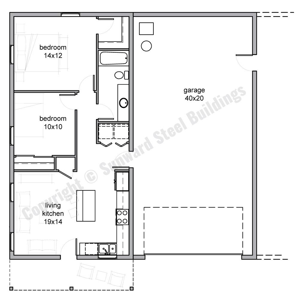 1600 sqft Metal Home