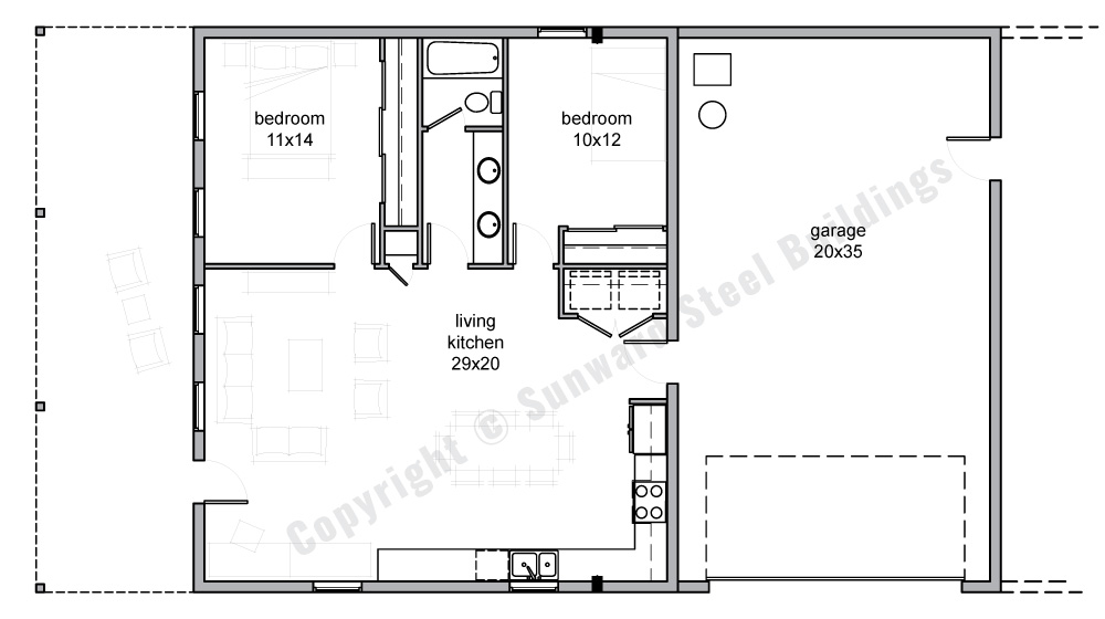 1750 sqft Metal Home