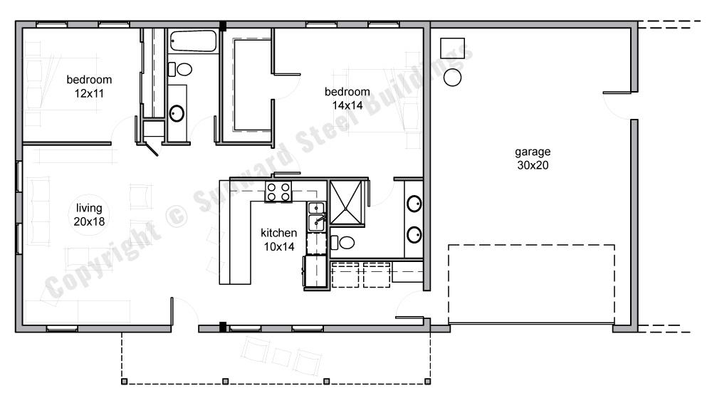 1800 sqft Metal Home