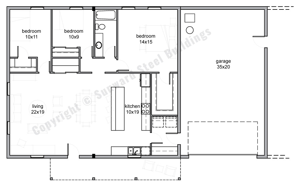 2100 sqft Metal Home