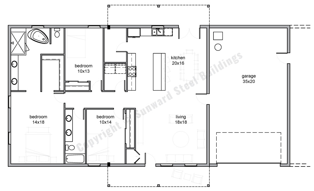 2450 sqft Metal Home