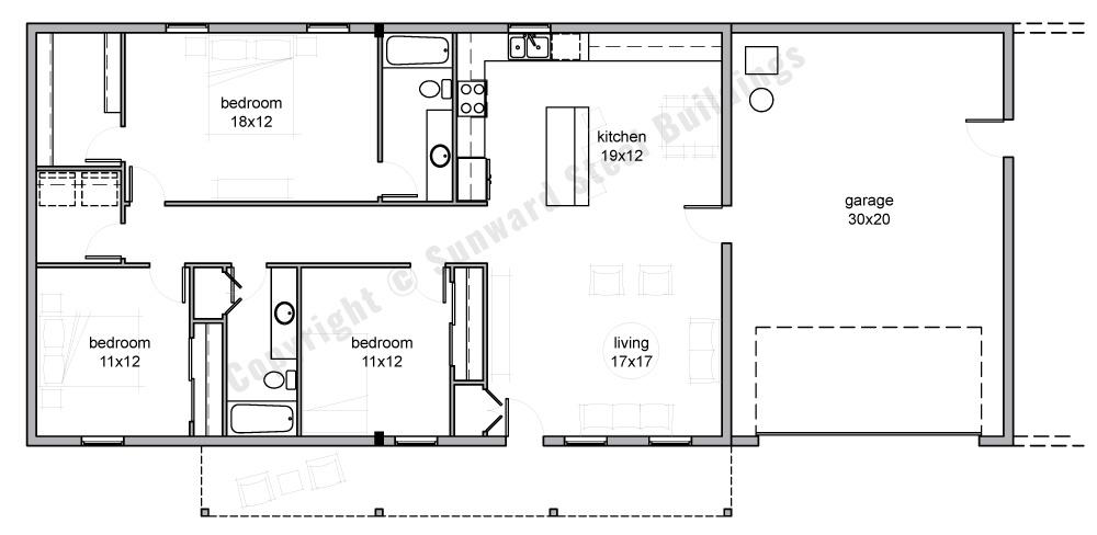 30x70 Metal Home