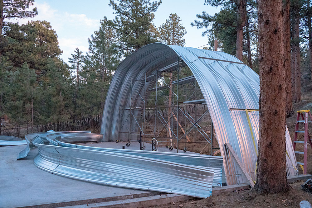 Metal Arch Construction