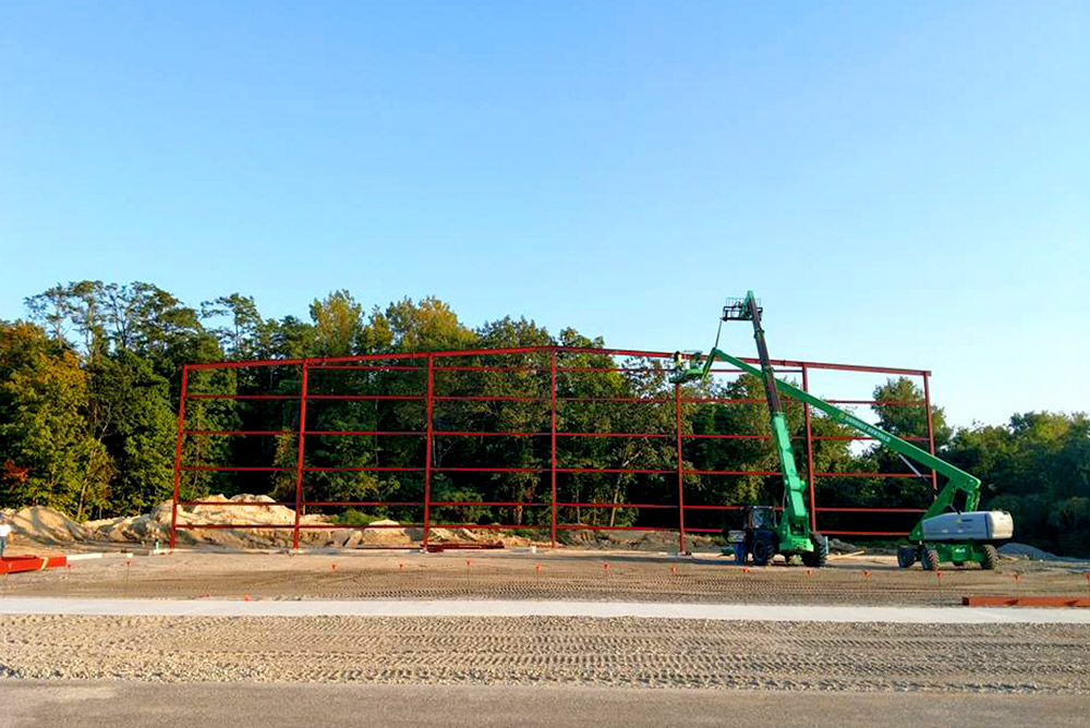 Airplane Hangar Construction