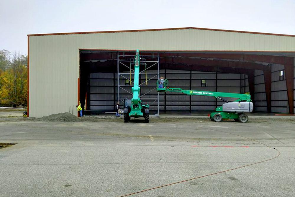 Steel Hangar Door Install