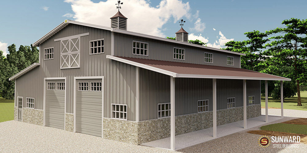 Agricultural Building 3D Drawing