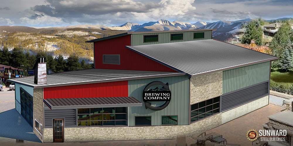Brewing Company 3D Rendering